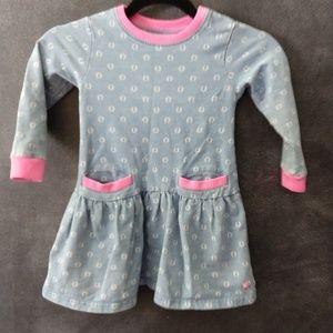 JOULES   Long Sleeve Horseshoe Print Dress Size 3